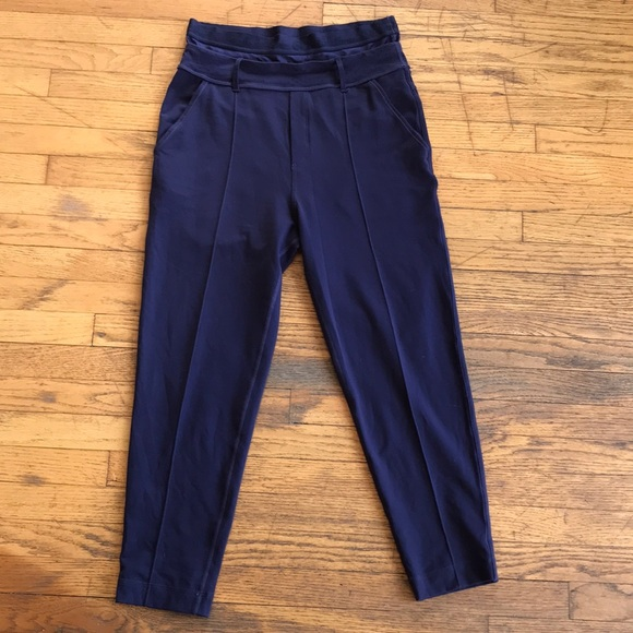5ecd33b9b lululemon athletica Pants - Lululemon Navy Double Waistband pant 4